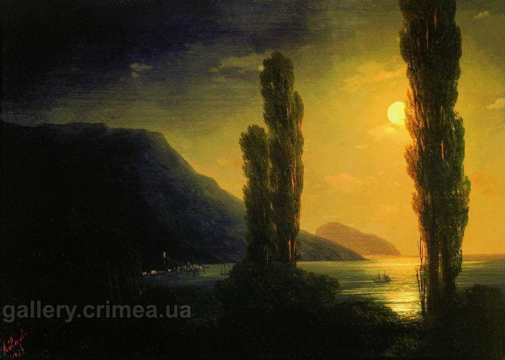 Лунная ночь. Окрестности Ялты. Айвазовский Иван Константинович