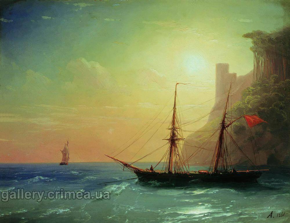 рыбаки на море картина айвазовского
