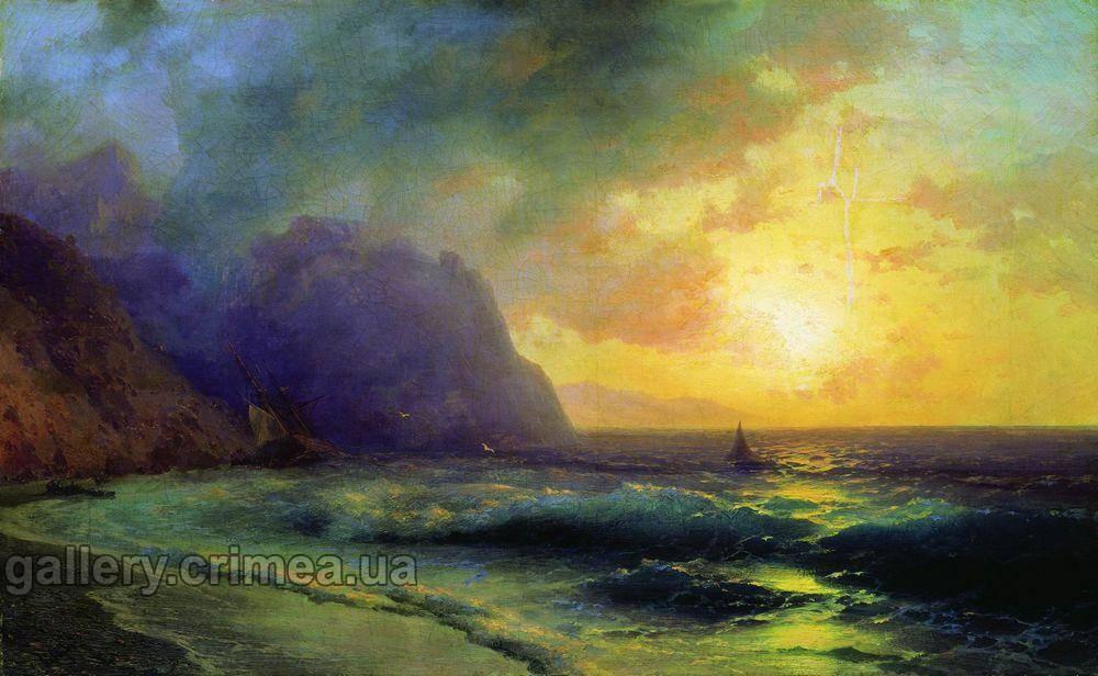 Закат на море айвазовский иван